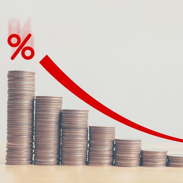 monety ustawione wrzędzie zwizualizacją procentową